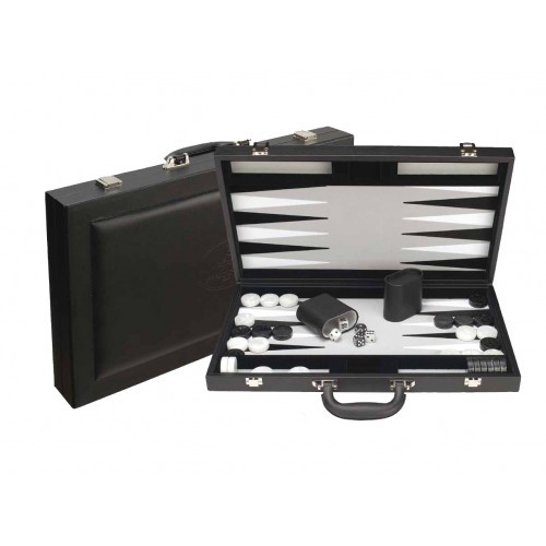 "Dal Rossi Backgammon 15"" PU Leather - Black"