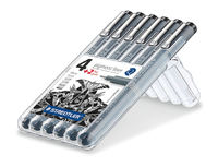 Staedtler - Marsgraphic Pigment Liner - Pack of 6