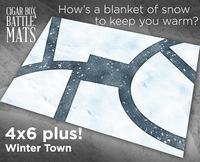 Cigar Box Mat: Winter Town (6x4 Plus)