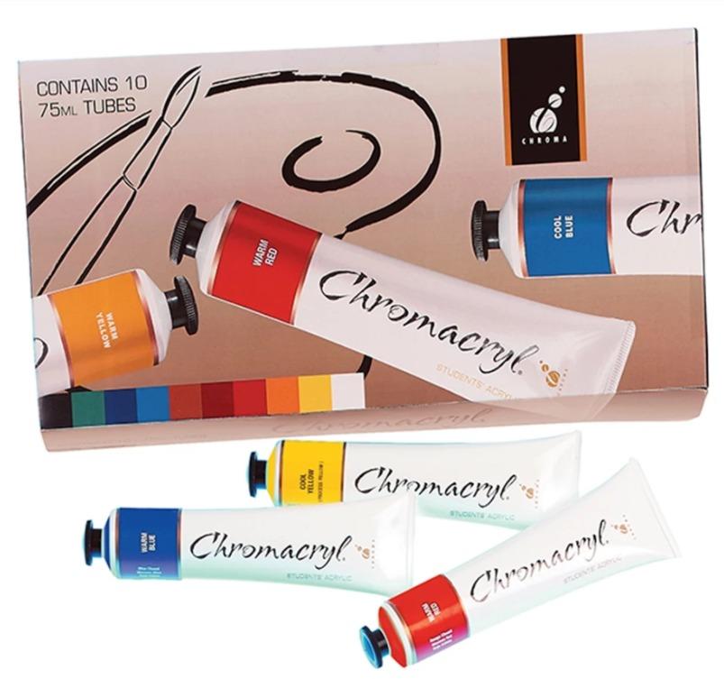 Chromacryl: Acrylic Student - Paint Set (10pc) image