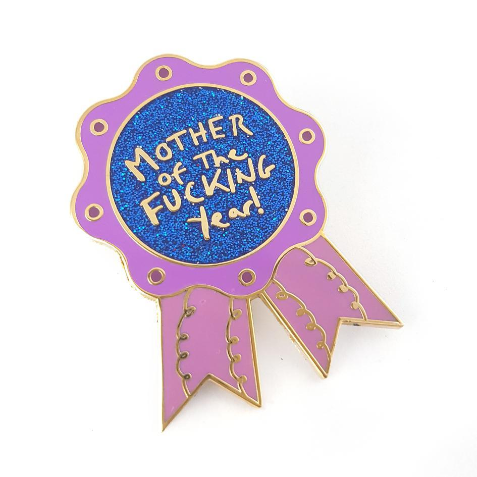 Mother Of The F*cking Year Lapel Pin image