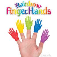 Archie McPhee: Rainbow Finger Hand - Finger Puppet (Assorted Designs)