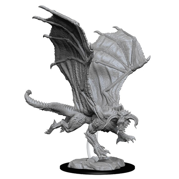 D&D Nolzur's Marvelous: Unpainted Miniatures - Young Black Dragon