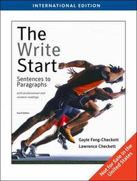 The Write Start with Readings: Sentences to Paragraphs by Lawrence Checkett image
