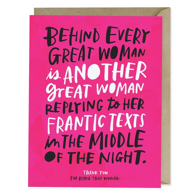 Emily McDowell: Behind Every Great Woman - Greeting Card