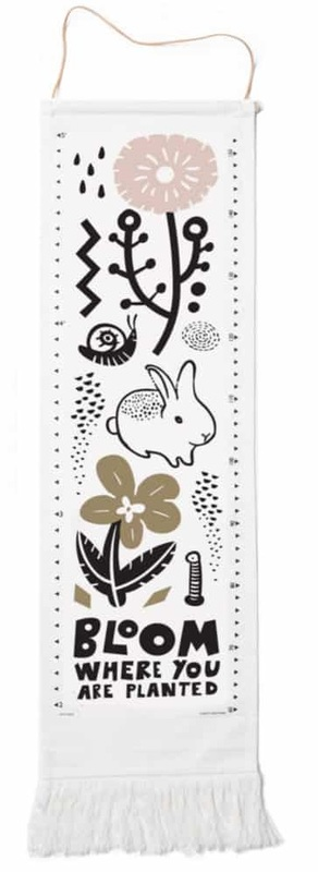 Wee Gallery: Organic Canvas Growth Chart - Bloom