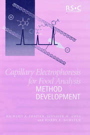 Capillary Electrophoresis for Food Analysis by Richard A. Frazier image