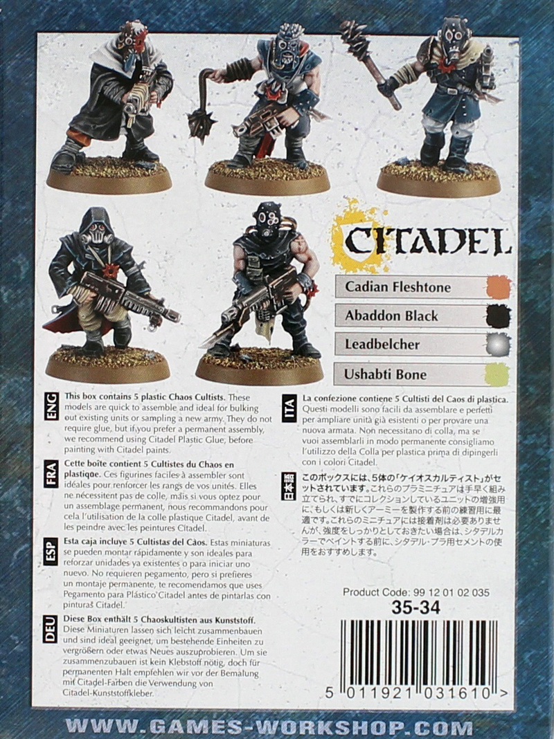 Warhammer 40,000 Chaos Cultists image