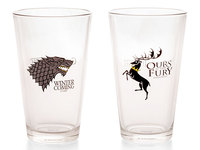 Game of Thrones Stark and Baratheon Pint Glass (Set of 2)