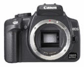 Canon Digital SLR Camera EOS 350D 8MP Body Only Black