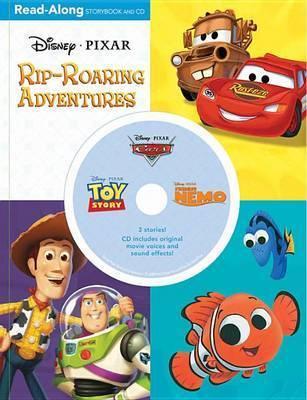3-In-1 Read-Along Storybook: Disney.Pixar Rip-Roaring Adventures