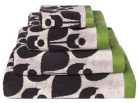 Orla Kiely Bath Towel - Wallflower Apple & Cream