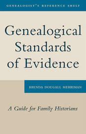 Genealogical Standards of Evidence by Brenda Dougall Merriman image