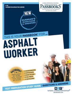 Asphalt Worker by National Learning Corporation