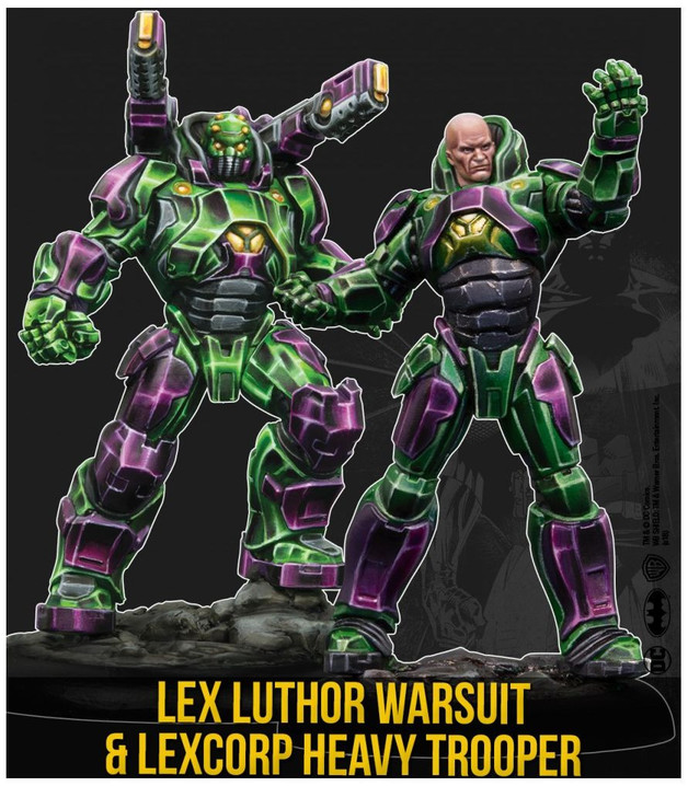 Batman: Miniatures Game - Lex Luthor Warsuit & Heavy Trooper Character Pack