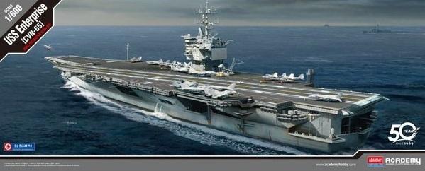 Academy: 1:600 USS Enterprise CVN-65 - Model Kit