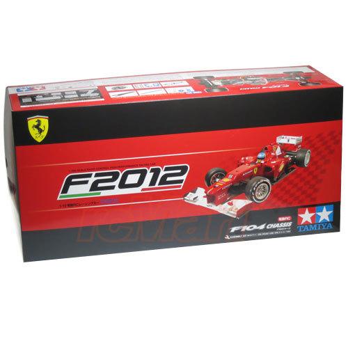 Tamiya RC Ferrari F2012 F104 Formula 1 Car 1/10 Kit image