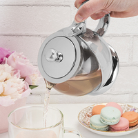 Pinky Up: Shelby Stainless Steel Wrapped - Teapot & Infuser