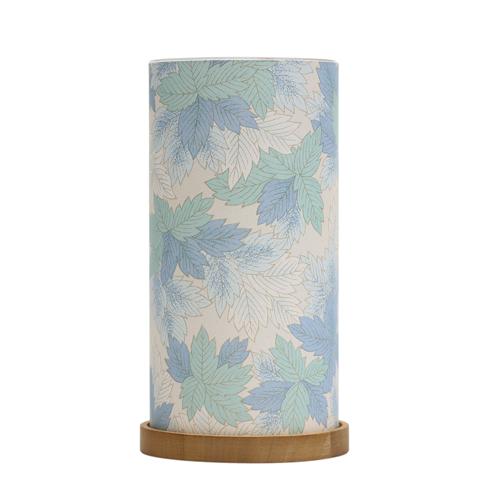 Big Glass Lantern Maple Leaves (Blue) image