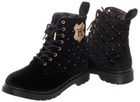 Harry Potter Quilted Womens Boots - Black (Size 11)