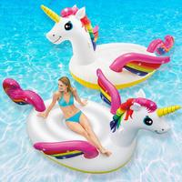"Intex: Mega Unicorn Island - Inflatable Lounger (113"" x 76)"