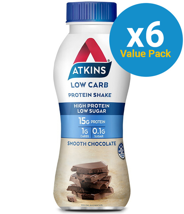 Atkins Low Carb Protein Shake - Chocolate (Pack of 6)