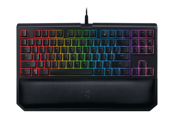 Razer BlackWidow Tournament Edition Chroma Gaming Keyboard V2 - Green Switches for PC Games