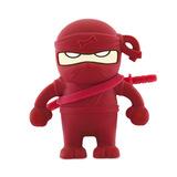 16GB Bone Collection USB Flash Drive - Ninja Red