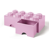 LEGO Storage Brick Drawer 8 (Light Pink)