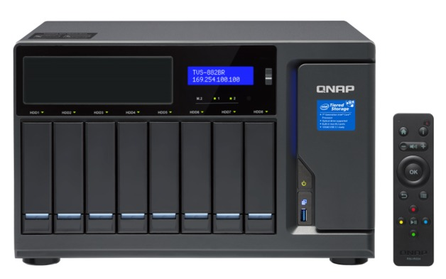 QNAP TVS-882BR-I5-16G, 8BAY NAS(NO DISK),16G,I5-7500,USB,ODD(0/1),GbE(4),M.2(2),TWR,2YR