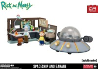 Rick and Morty: Spaceship & Garage Large Construction Set
