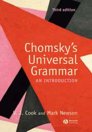 Chomsky's Universal Grammar by Vivian J. Cook image