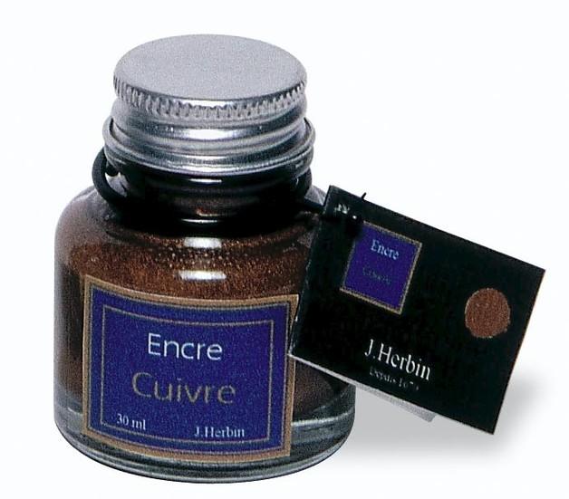 J Herbin: Calligraphy Ink - Copper (30ml)