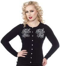 Sourpuss: F*ck This Cardigan - (Medium)