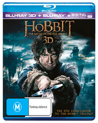 The Hobbit: The Battle of the Five Armies 3D (Blu-ray/3D Blu-ray) DVD