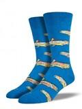Mens Trout Socks - Blue