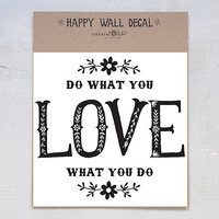 Natural Life: Wall Decal - Do What You Love