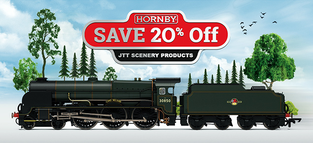 Save 20% off Hornby & JTT Model Railway