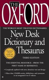 The Oxford New Desk Dictionary and Thesaurus by Oxford University Press