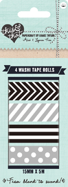 This and That Washi Tape Silver & Black