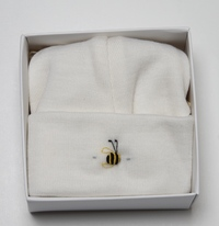 Dimples: Gift Boxed - Merino Pastel Marl Beanie - Cream (6-12 Months)