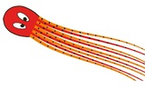 """HQ Kites: Floating Octopus Red - 20"""" Creature Kite"""