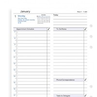 Filofax A5 Refill - Business day per page English appointments lined (2018)