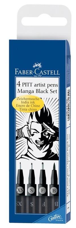 Faber-Castell : Pitt Artist Pens Manga Black Set of 4