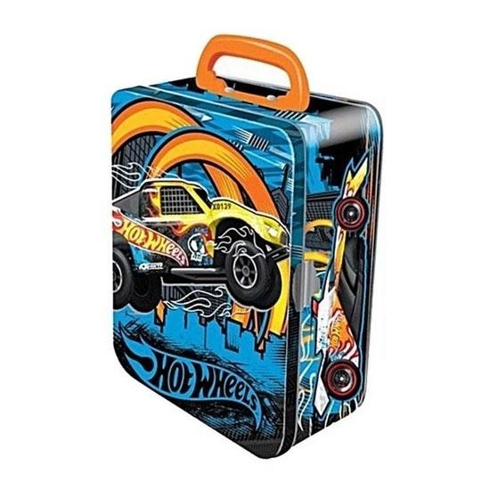 Hot Wheels Toy Car Holder Truck : Hot wheels car storage tin blue toy at mighty ape nz