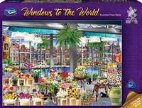 Holdson: 1,000 Piece Puzzle - Windows of the World (Amsterdam Flower Market) image