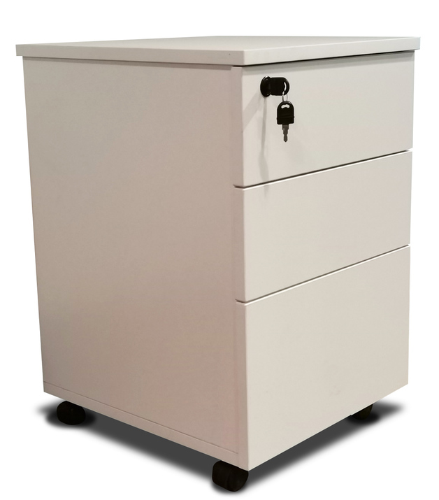 Mobile 3 Drawer in White