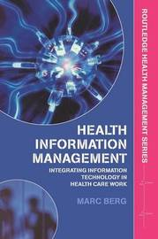 Health Information Management by Marc Berg image