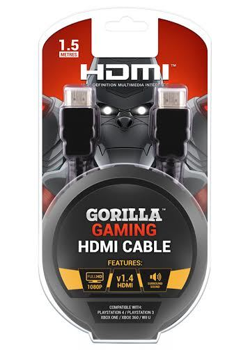 Gorilla Gaming HDMI Cable (v1.4, all formats) for