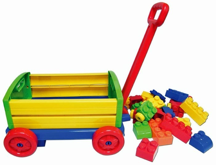 Big Blocks Wagon with 24 Blocks image